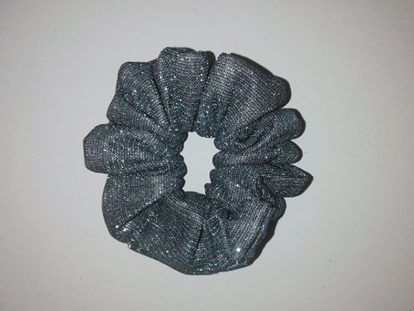 CK22 Glitter Bling Blue Scrunchies